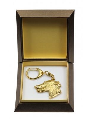 Whippet - keyring (gold plating) - 2858 - 30519