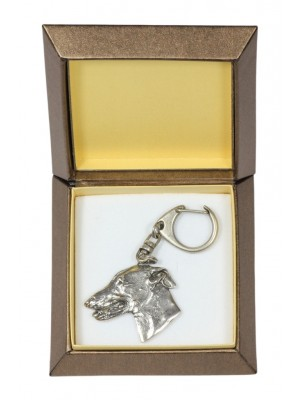 Whippet - keyring (silver plate) - 2804 - 29927