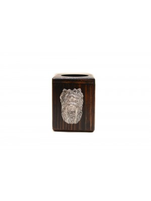 Yorkshire Terrier - candlestick (wood) - 3982