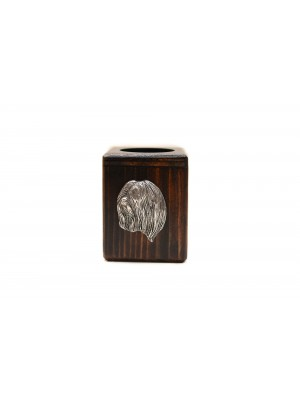 Lhasa Apso - candlestick (wood) - 3986