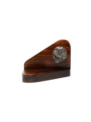 Polish Lowland Sheepdog - candlestick (wood) - 3678