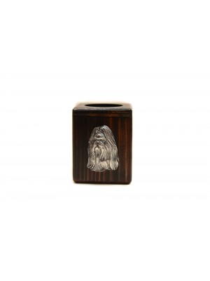 Shih Tzu - candlestick (wood) - 3933