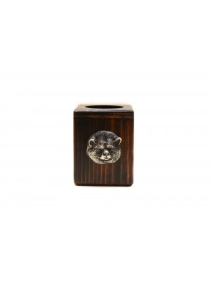 Akita Inu - candlestick (wood) - 3937