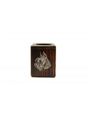 Schnauzer - candlestick (wood) - 3942