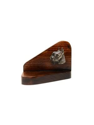 Schnauzer - candlestick (wood) - 3605