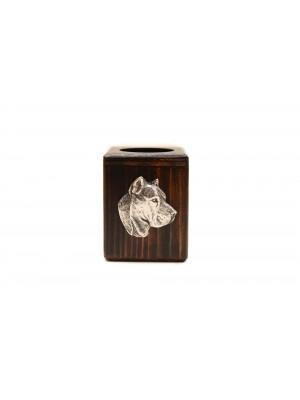 Perro de Presa Canario - candlestick (wood) - 3967
