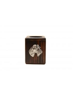 Foksterier - candlestick (wood) - 3971