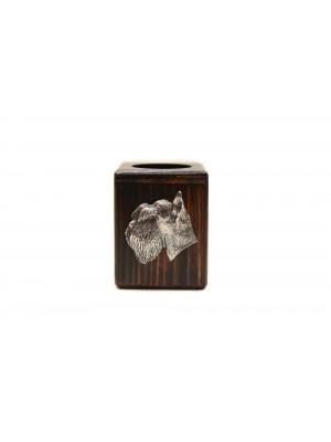 Schnauzer - candlestick (wood) - 3899