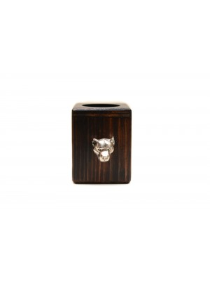 American Staffordshire Terrier - candlestick (wood) - 3900