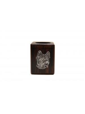 Briard - candlestick (wood) - 3887