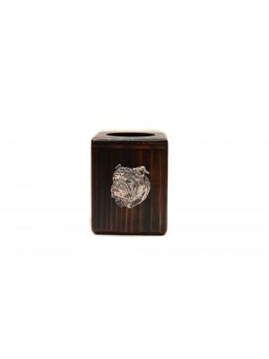 English Bulldog - candlestick (wood) - 3891