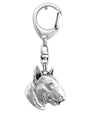 Bull Terrier - keyring (silver plate) - 107