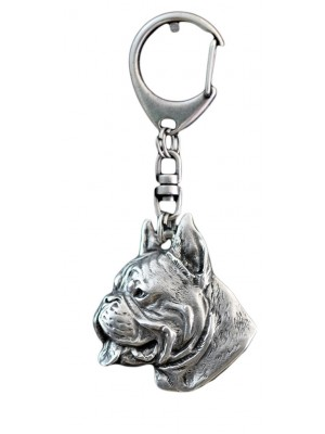Boxer - keyring (silver plate) - 40