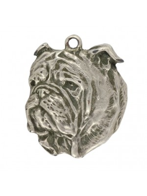 English Bulldog - keyring (silver plate) - 11