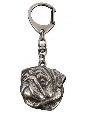 Pug - keyring (silver plate) - 110