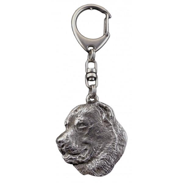 Central Asian Shepherd Dog - keyring (silver plate) - 97