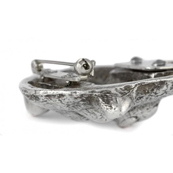 Akita Inu - clip (silver plate) - 258 - 26276