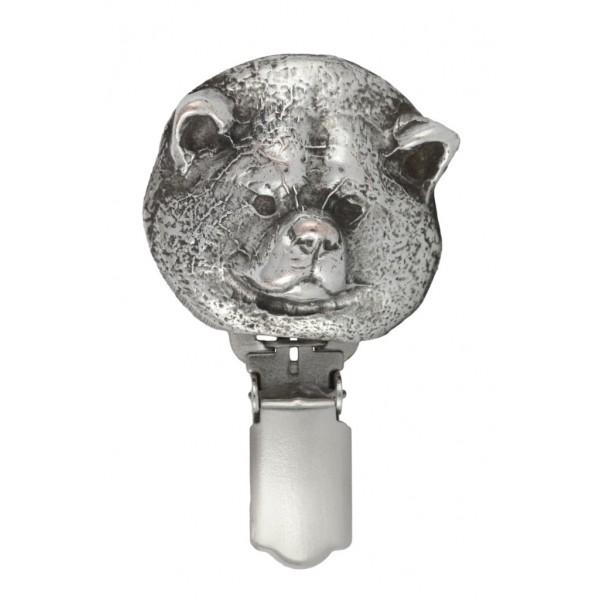 Akita Inu - clip (silver plate) - 258 - 26279