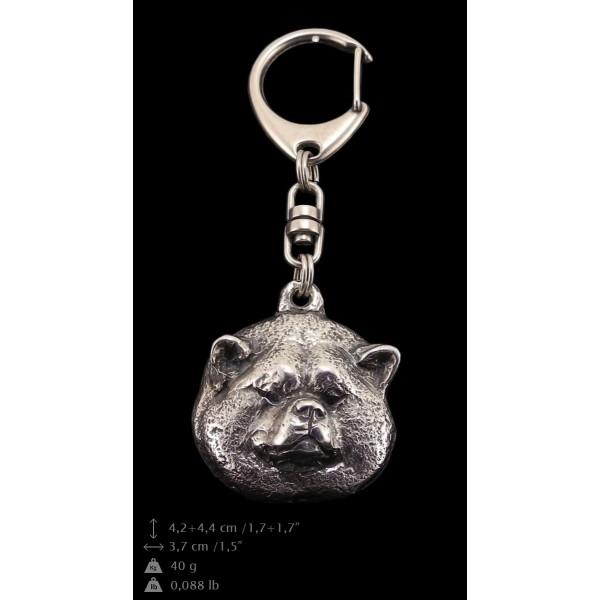 Akita Inu - keyring (silver plate) - 64 - 9310