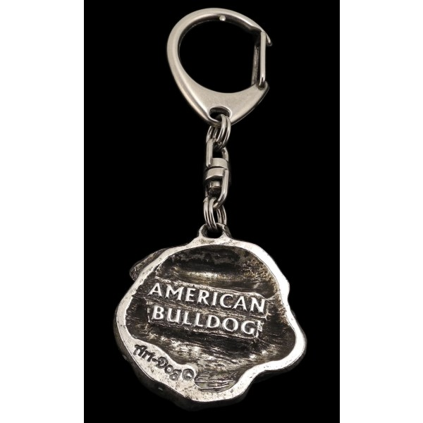 American Bulldog - keyring (silver plate) - 105 - 567