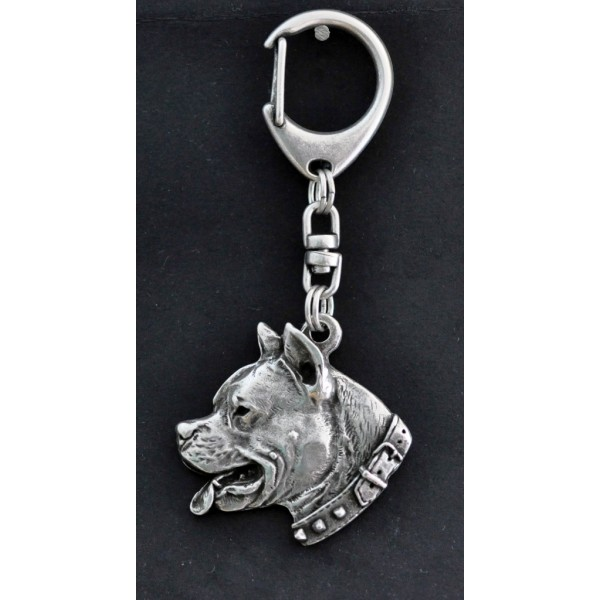 American Staffordshire Terrier - keyring (silver plate) - 32 - 208