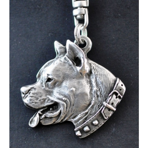American Staffordshire Terrier - keyring (silver plate) - 32 - 209