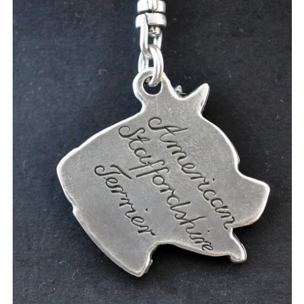 American Staffordshire Terrier - keyring (silver plate) - 32 - 210