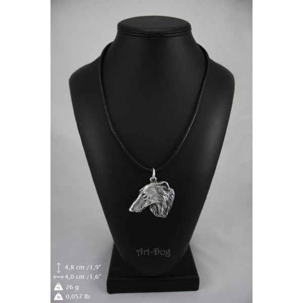 Barzoï Russian Wolfhound - necklace (strap) - 240 - 8986