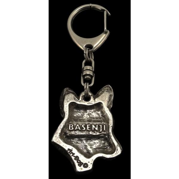 Basenji - keyring (silver plate) - 109 - 584
