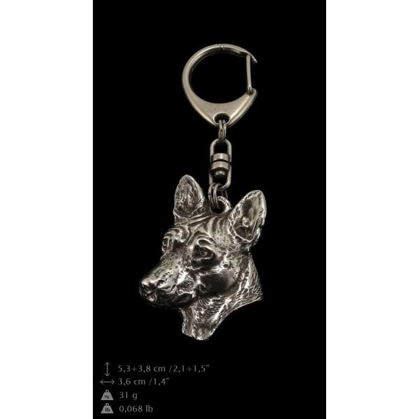 Basenji - keyring (silver plate) - 109 - 9383