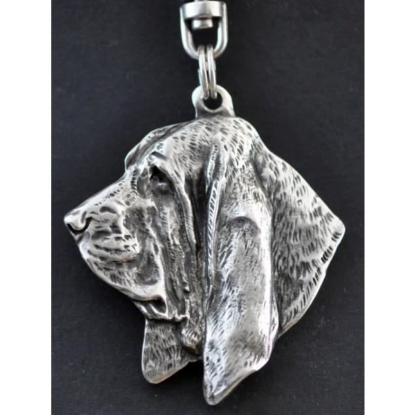 Basset Hound - keyring (silver plate) - 23 - 163