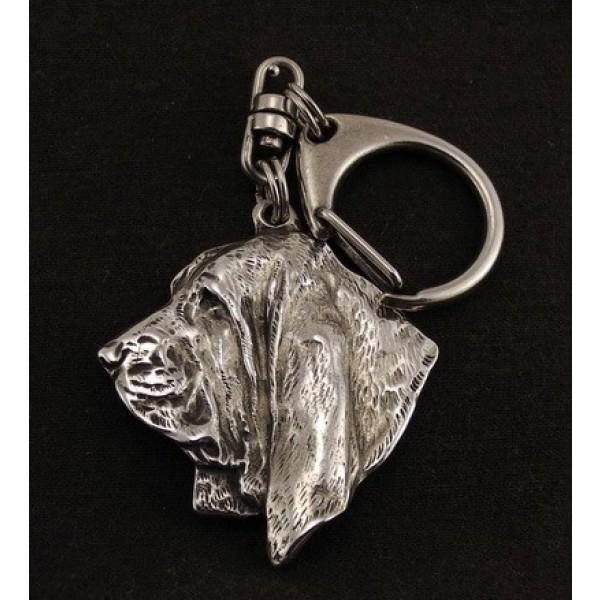 Basset Hound - keyring (silver plate) - 23 - 9225