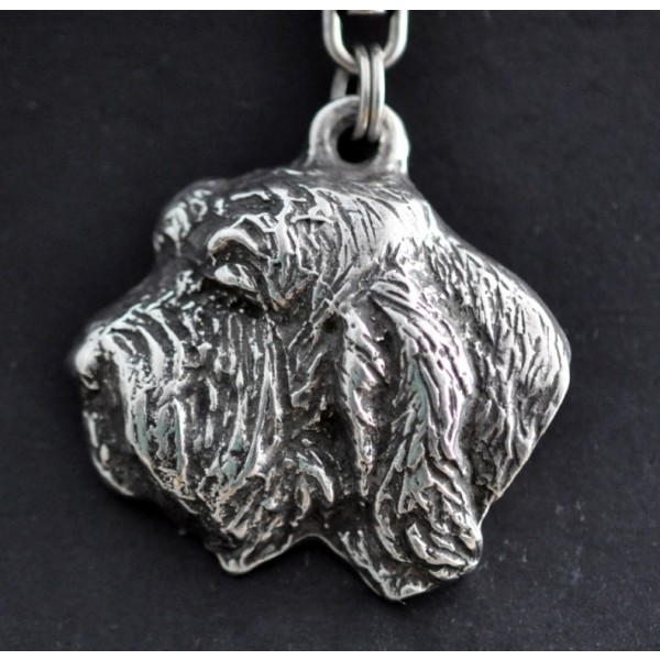 Basset Hound - keyring (silver plate) - 74 - 427