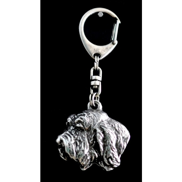 Basset Hound - keyring (silver plate) - 74 - 9331