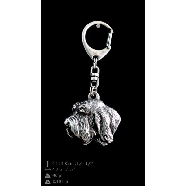 Basset Hound - keyring (silver plate) - 74 - 9333