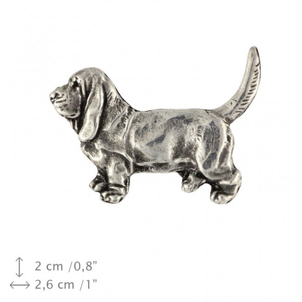 Basset Hound - pin (silver plate) - 450 - 25897
