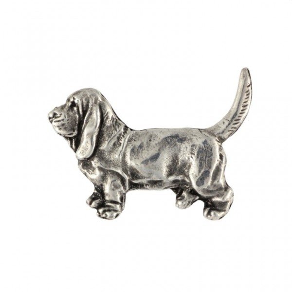 Basset Hound - pin (silver plate) - 450 - 25898