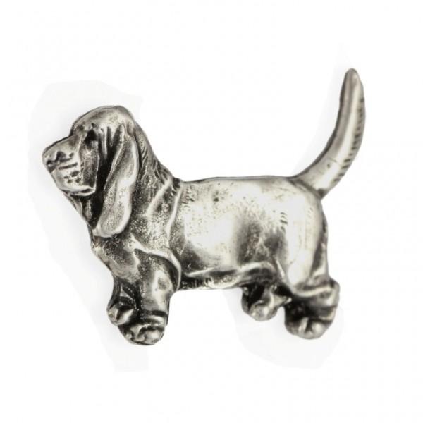 Basset Hound - pin (silver plate) - 450 - 25899