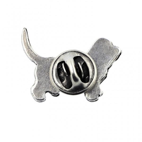 Basset Hound - pin (silver plate) - 450 - 25901
