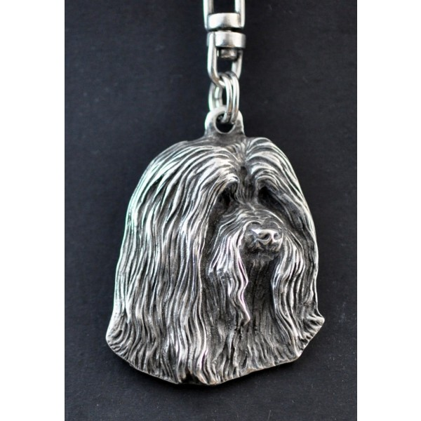 Bearded Collie - keyring (silver plate) - 34 - 221