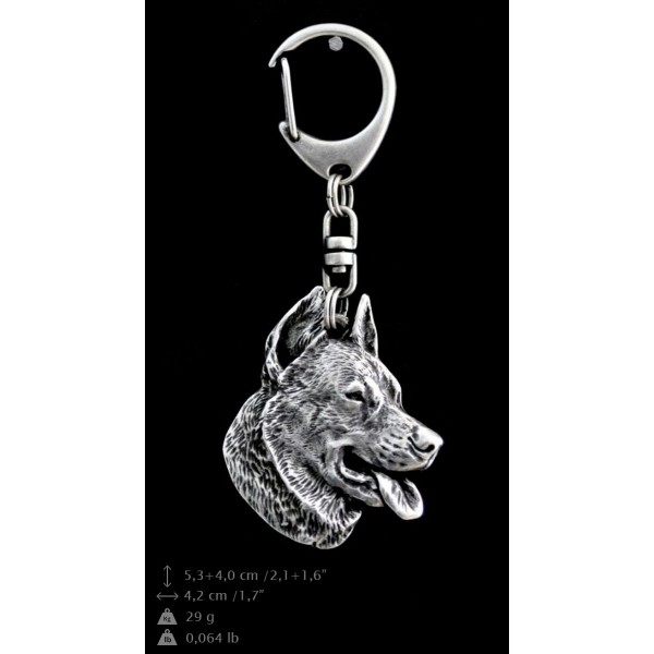 Beauceron - keyring (silver plate) - 53 - 9295