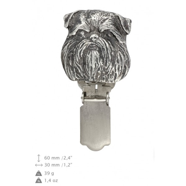 Belgium Griffon - clip (silver plate) - 294 - 26400