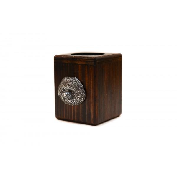 Bichon Frise - candlestick (wood) - 4013 - 37971