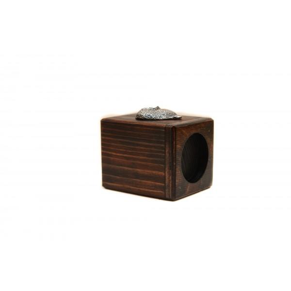Bichon Frise - candlestick (wood) - 4013 - 37972