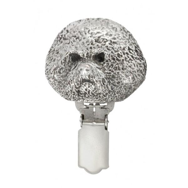 Bichon Frise - clip (silver plate) - 268 - 26297