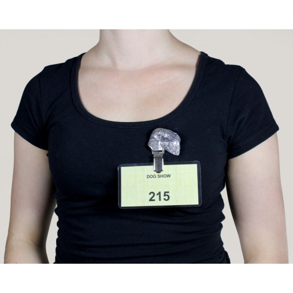 Black Russian Terrier - clip (silver plate) - 296 - 8643
