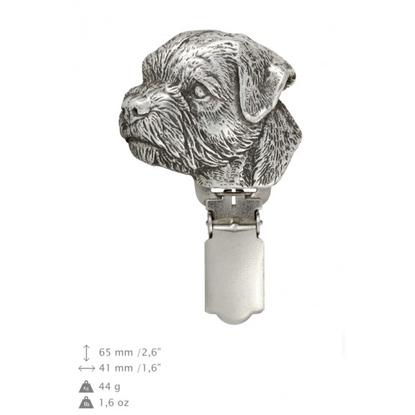 Border Terrier - clip (silver plate) - 264 - 26288