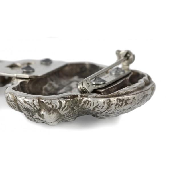 Border Terrier - clip (silver plate) - 264 - 26291