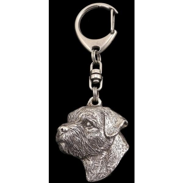 Border Terrier - keyring (silver plate) - 103 - 558