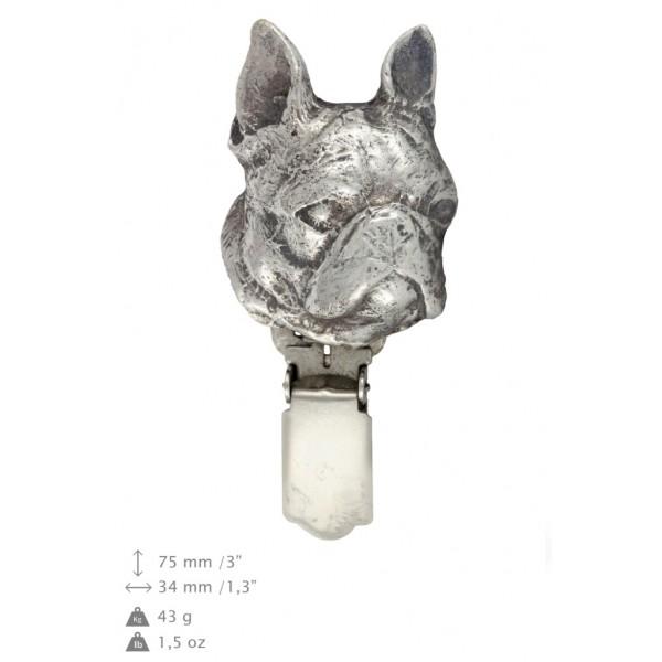 Boston Terrier - clip (silver plate) - 249 - 26224
